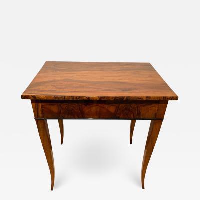 Biedermeier Side Table with Drawer Walnut Veneer South Germany circa 1820