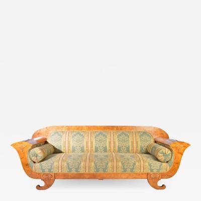 Biedermeier Sofa in Birch Sweden 1900s