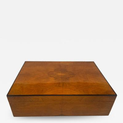 Biedermeier Style Decorative Box Walnut Veneer South Germany circa 1910 1920