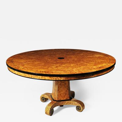 Biedermeier Style Round Dining Table by Iliad Design