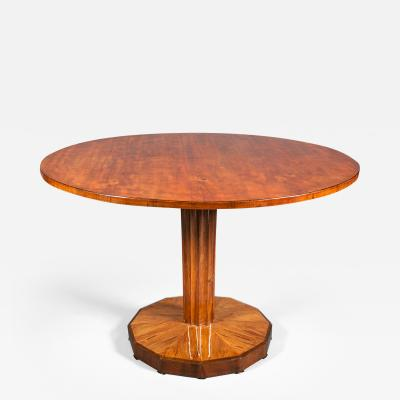 Biedermeier Walnut Side Table tilt top