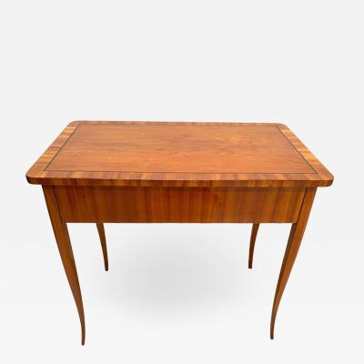 Biedermeier Working Table with Drawer Cherry Veneer Austria circa 1830