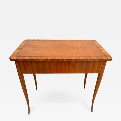 Biedermeier Working Table with Drawer Cherry Veneer South Germany circa 1830