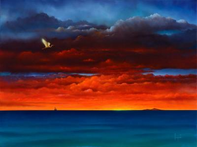 Big Island Flash Contemporary Giclee Print by Dario Campanile