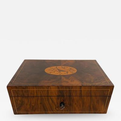 Big Restored Biedermeier Box Walnut Maple Austria Vienna circa 1820