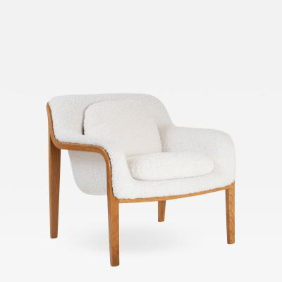 Bill Stephens Model 1315 Bentwood Lounge Chair in Faux Lambswool by Bill Stephens for Knoll