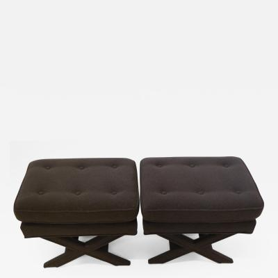 Billy Balwin Style Pair of X Benches