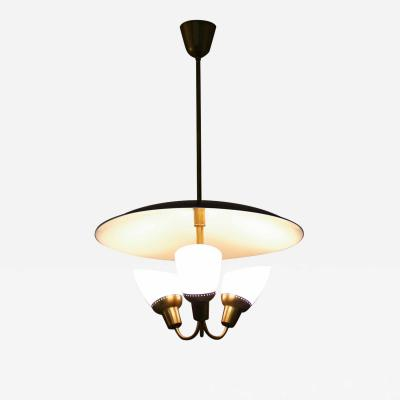 Bj rn Eng Scandinavian Midcentury Pendant in Brass and Glass By Bj rn Eng for AWF