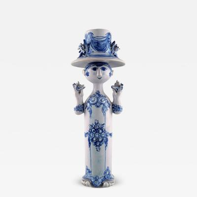 Bj rn Wiinblad Bj rn Wiinblad ceramics blue lady with two birds