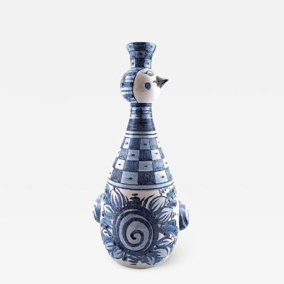 Bj rn Wiinblad Bjorn Wiinblad unique ceramics candlestick figurine bird Rare