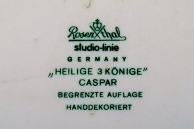 Bj rn Wiinblad Rare hand painted Christmas plate from 1972 Caspar