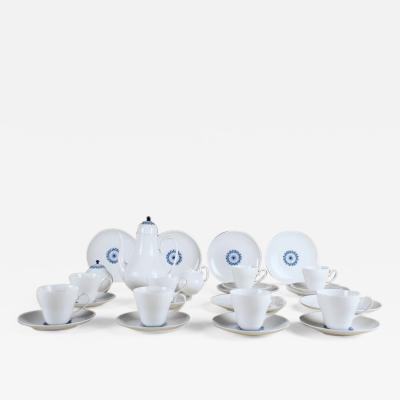 Bj rn Wiinblad Rosenthal Bjorn Wiinblad Romanze 8 p coffee service with blue decoration