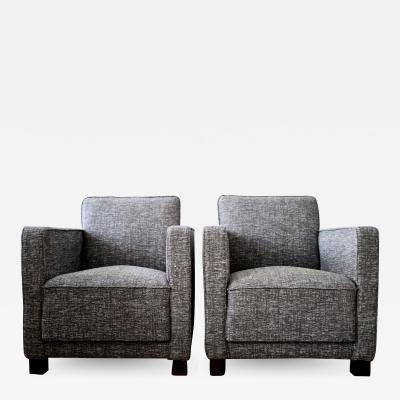 Bjorn Tragardh 2 Swedish Club Chairs attributed to Bj rn Tr g rdh for Svenskt Tenn 1930s