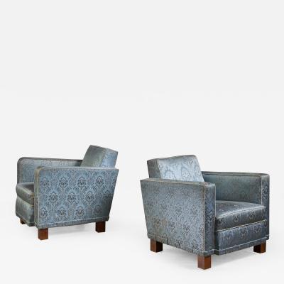 Bjorn Tragardh Bjorn Tragardh pair of easy chairs for Svenskt Tenn 1930s