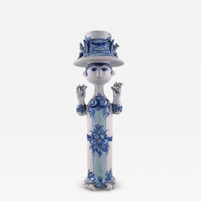 Bjorn Wiinblad Bj rn Wiinblad Bj rn Wiinblad ceramics blue lady with two birds