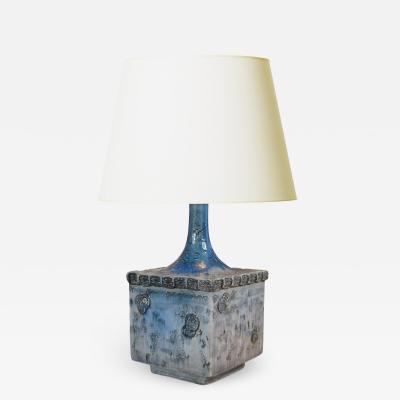 Bjorn Wiinblad Bj rn Wiinblad Lyrical Table Lamp with Folk Style Ornamentation by Bjorn Wiinblad