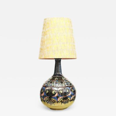 Bjorn Wiinblad Bj rn Wiinblad RARE COLOSSAL ONE OF A KIND CERAMIC LAMP BY BJORN WIINBLAD