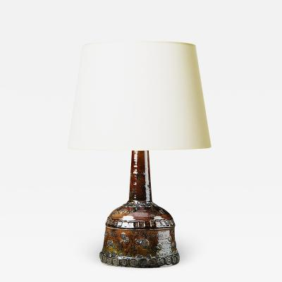 Bjorn Wiinblad Bj rn Wiinblad Tall Table Lamp with Rich Ornamentation by Bj rn Wiinblad