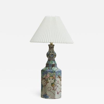 Bjorn Wiinblad Bjorn wiinblad rare large unique table lamp