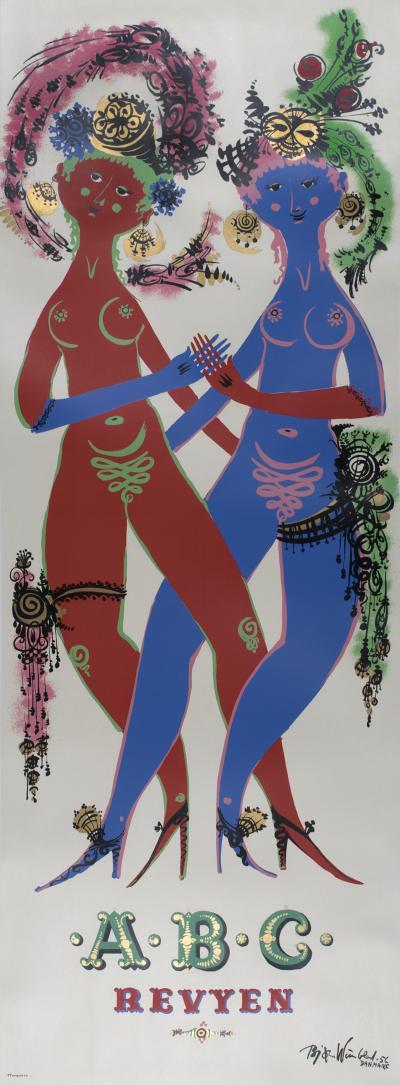 Bjorn Wiinblad Danish Musical Review Poster by Bjorn Wiinblad 1956