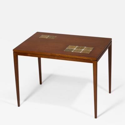 Bjorn Wiinblad Rosewood Table with Porcelain Tiles by Bjorn Wiinblad 1960s