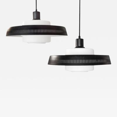 Black And White Mid Century Hanging Lights