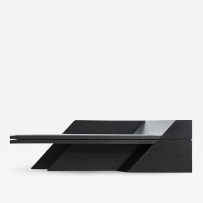 Black Ash Chaise Longue Sculpted by Lupo Hori kami