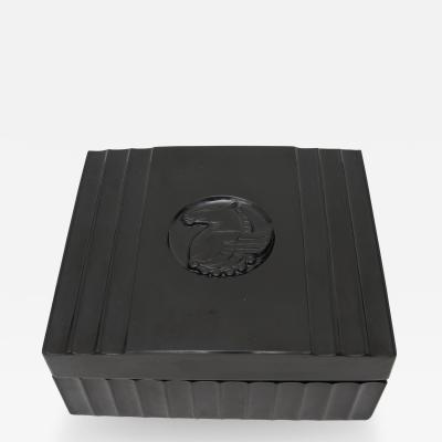 Black Bakelite American Art Deco Storage Box