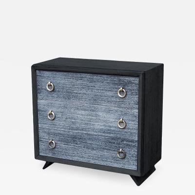 Black Cerused Mid Century Dresser