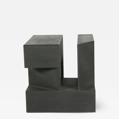 Black Cube Aluminum Sculpture by Alfredo Halegua