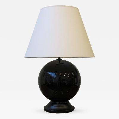 Black Glazed Ceramic Sphere Lamp