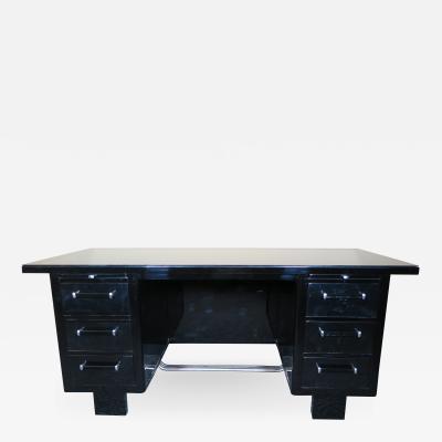 Black Lacquer Art Deco Desk