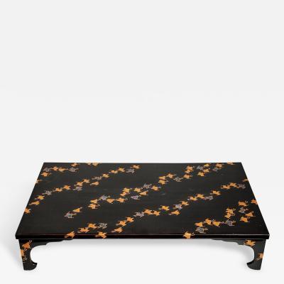 Black Lacquer Flower Arranging Table