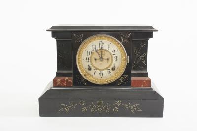 Black Marble Ansonian Mantel Desk Clock