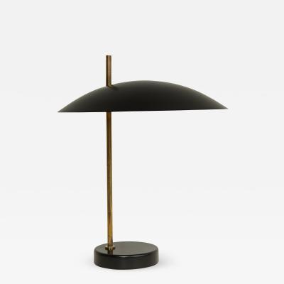 Black Metal Table Lamp by Pierre Diderot