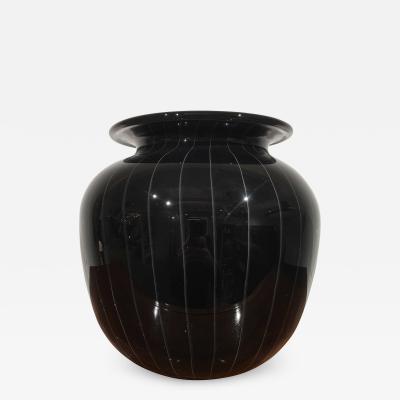 Black Murano vase Italy 1970