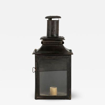 Black Painted French Tole Wall Lantern