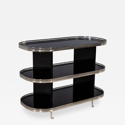 Black Stainless Steel Bar Cart Trolley