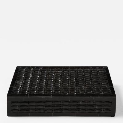 Black Stylized Bamboo Bone Box