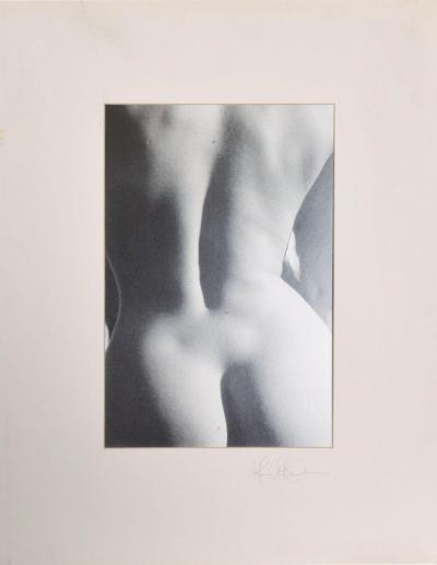 Black White Female Backside Nude Photo TEXAS Signed