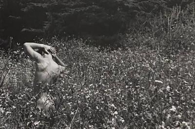 Black and White Photograph of a Man in a Field Circa 1950