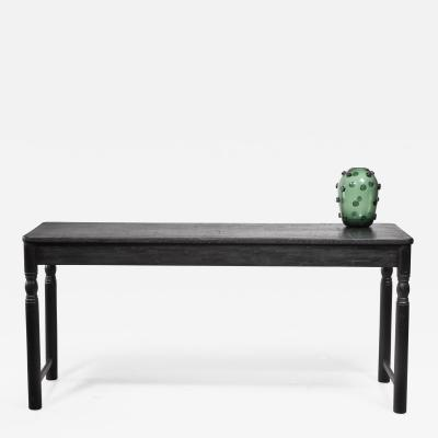Black pine console or work table Sweden late 19th century