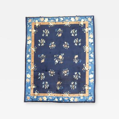 Blue Chinese Floral Rug rug no j1428