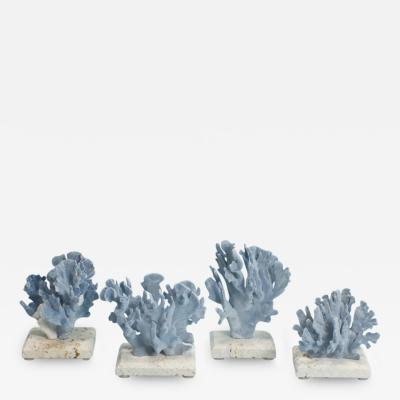 Blue Coral Mounted on Coquina Stone Bases D34 to D37 Priced Individually