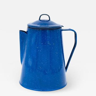 Blue Enamel Coffee percolator