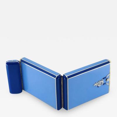 Blue Enamel Gold Box