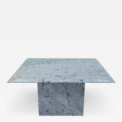 Blue Granite Side Table 1970s Stone Marble