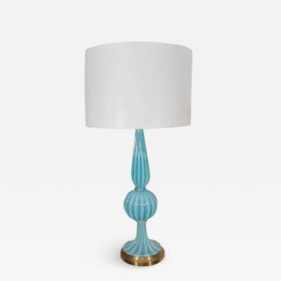 Blue Murano Glass Lamp