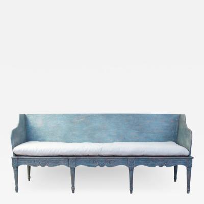 Blue Painted 18th century Swedish Tragsoffa