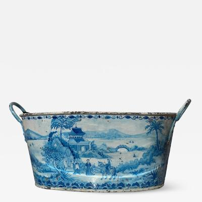 Blue Tole French Style Chinoiserie Planter